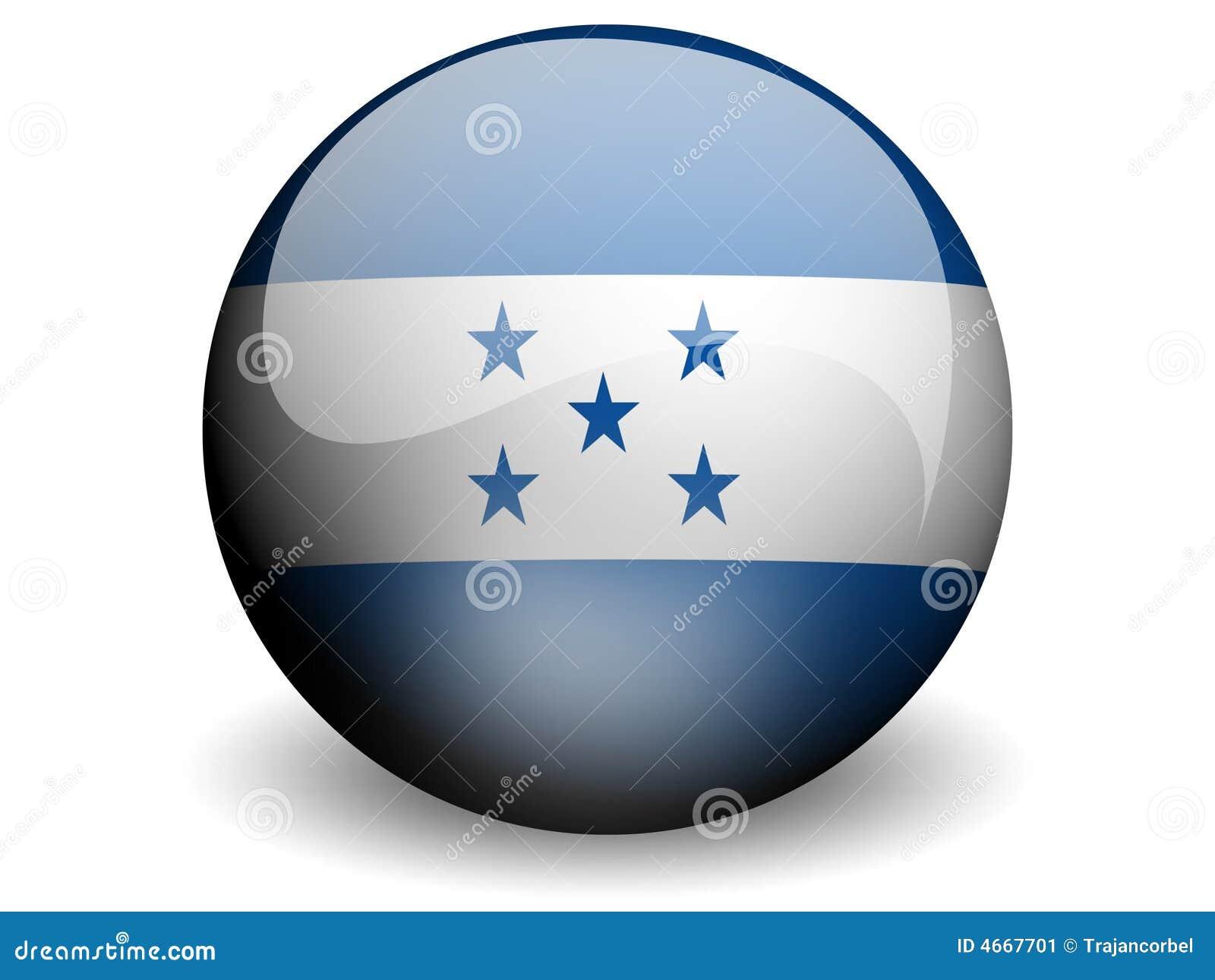 Honduras bandery round