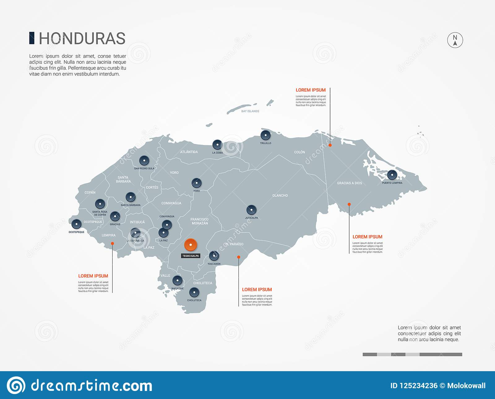 Honduras Infographic Map Vector Illustration. Stock Vector ... on map of san bernardino county cities, map of oceania cities, map of eastern united states cities, map of s korea cities, map of kosovo cities, map of luxembourg cities, map of rio grande cities, map of palau cities, map of guyana cities, map of ohio showing cities, map of the dominican republic cities, map of western tennessee cities, map of laos cities, map of niger cities, map of mississippi river cities, map of democratic republic of congo cities, map equatorial guinea cities, map of guam cities, map of gulf of california cities, map of burundi cities,