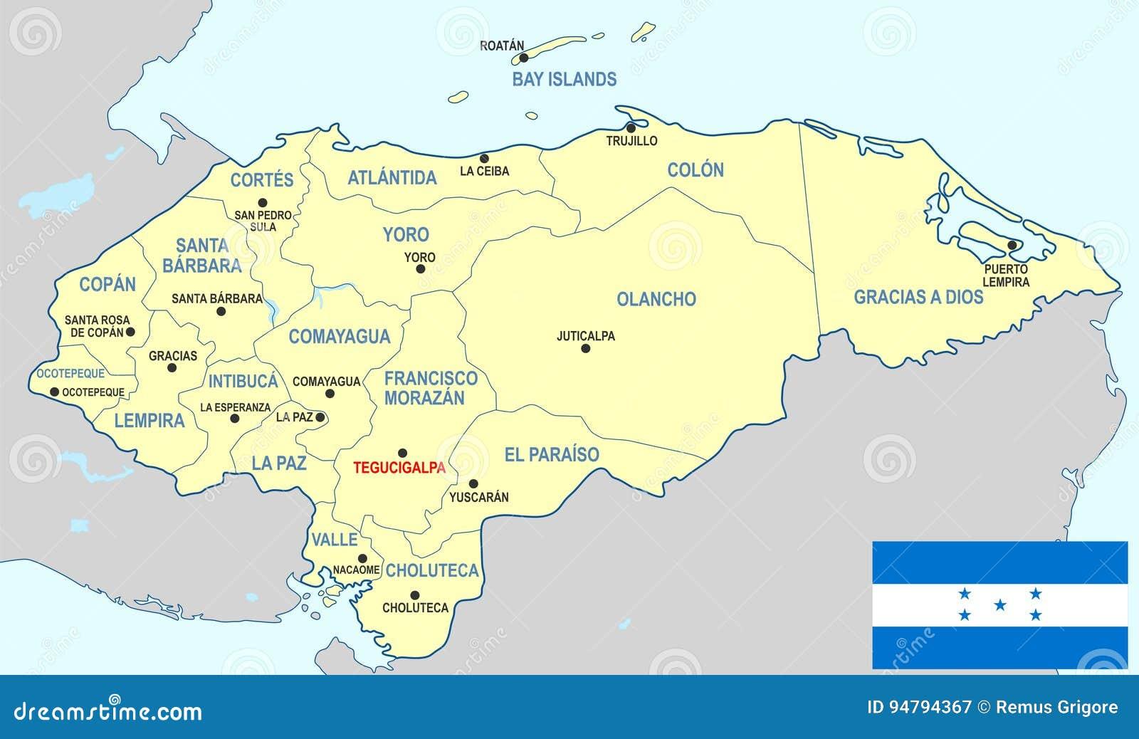 honduras karte Honduras Karte vektor abbildung. Illustration von honduras   94794367