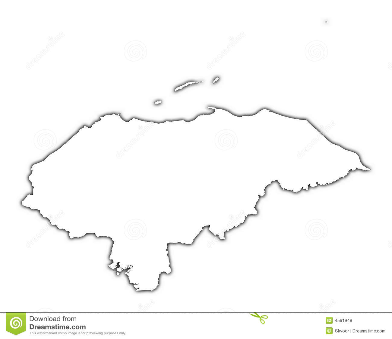 Honduras Outline Map Royalty Free Stock Photos Image - Honduras country political map