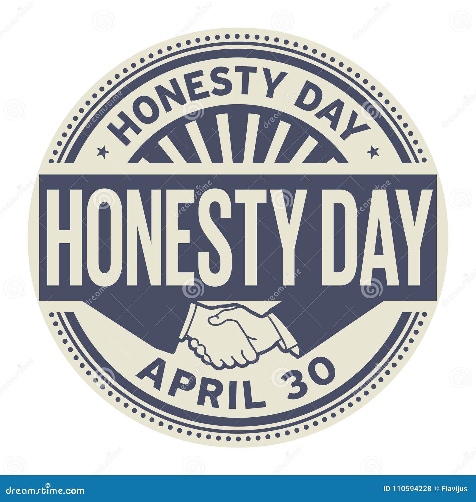 Honesty Day stamp