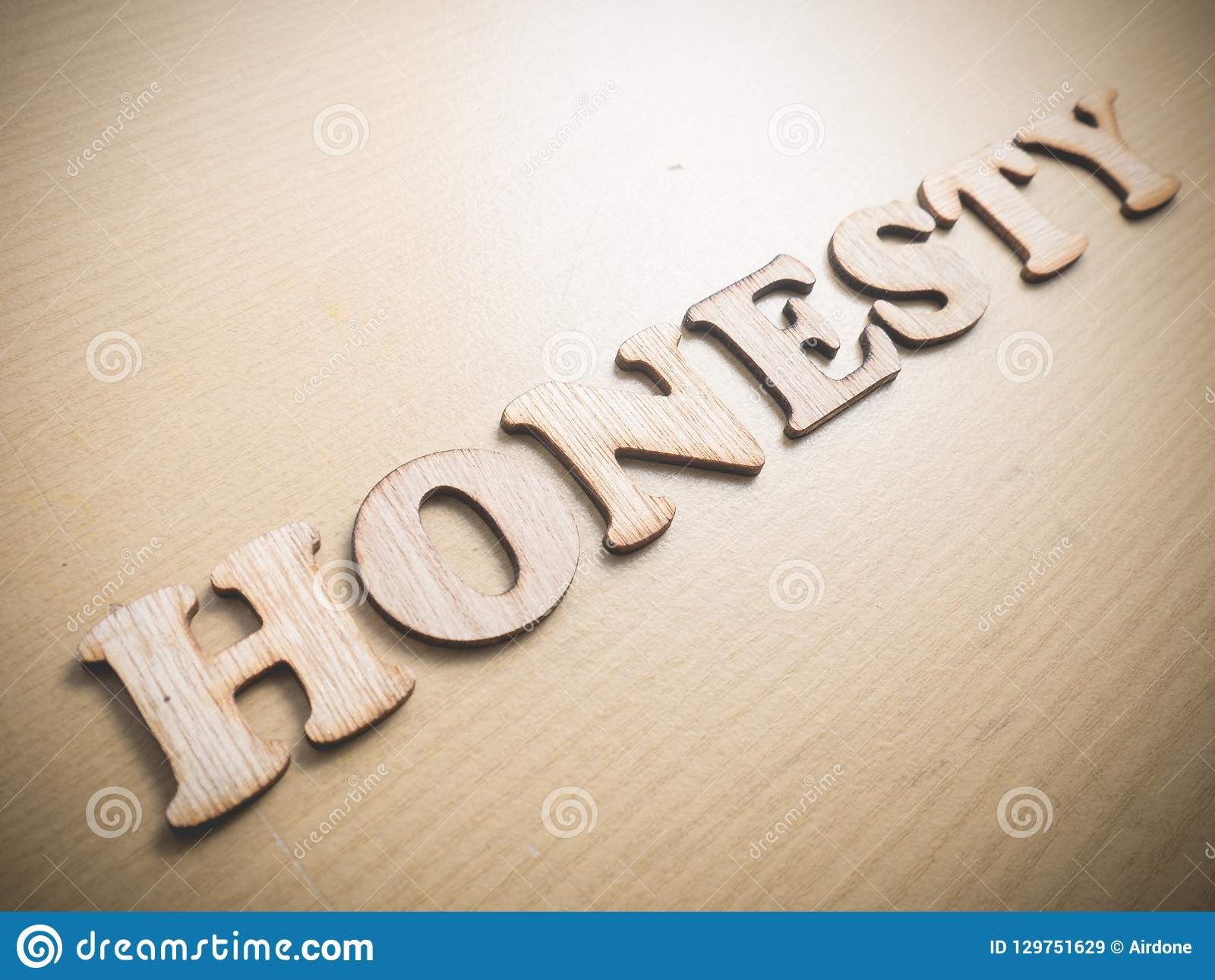 Honesty, Motivational Words Quotes Concept Stock Image