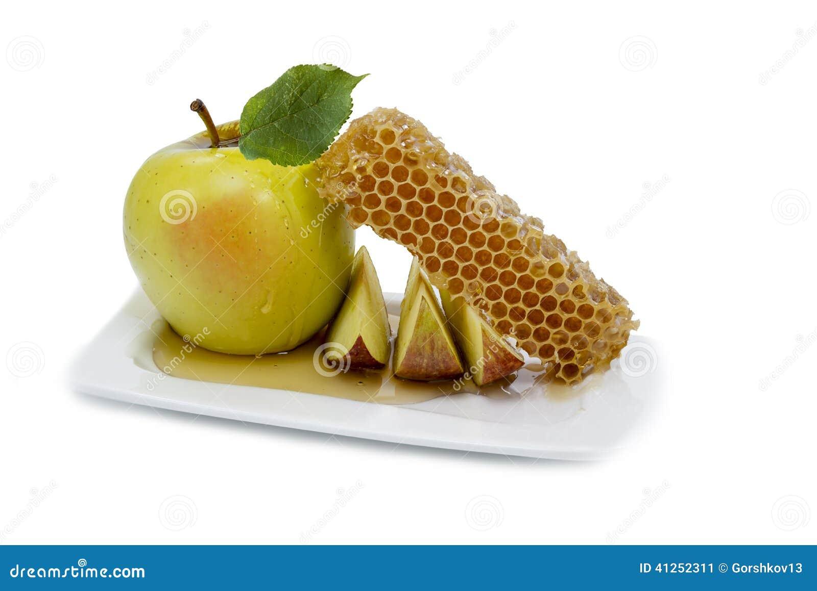 Honey and apple are symbols of rosh hashanah stock image image honey and apple are symbols of rosh hashanah biocorpaavc