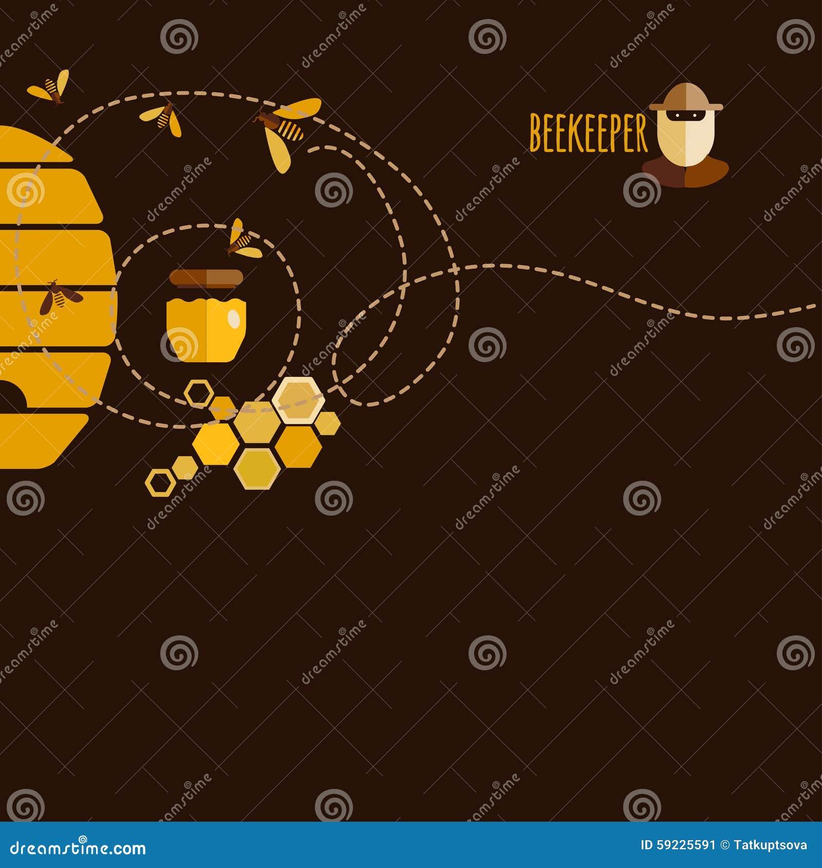 Download Honey Background ilustración del vector. Ilustración de abejorro - 59225591