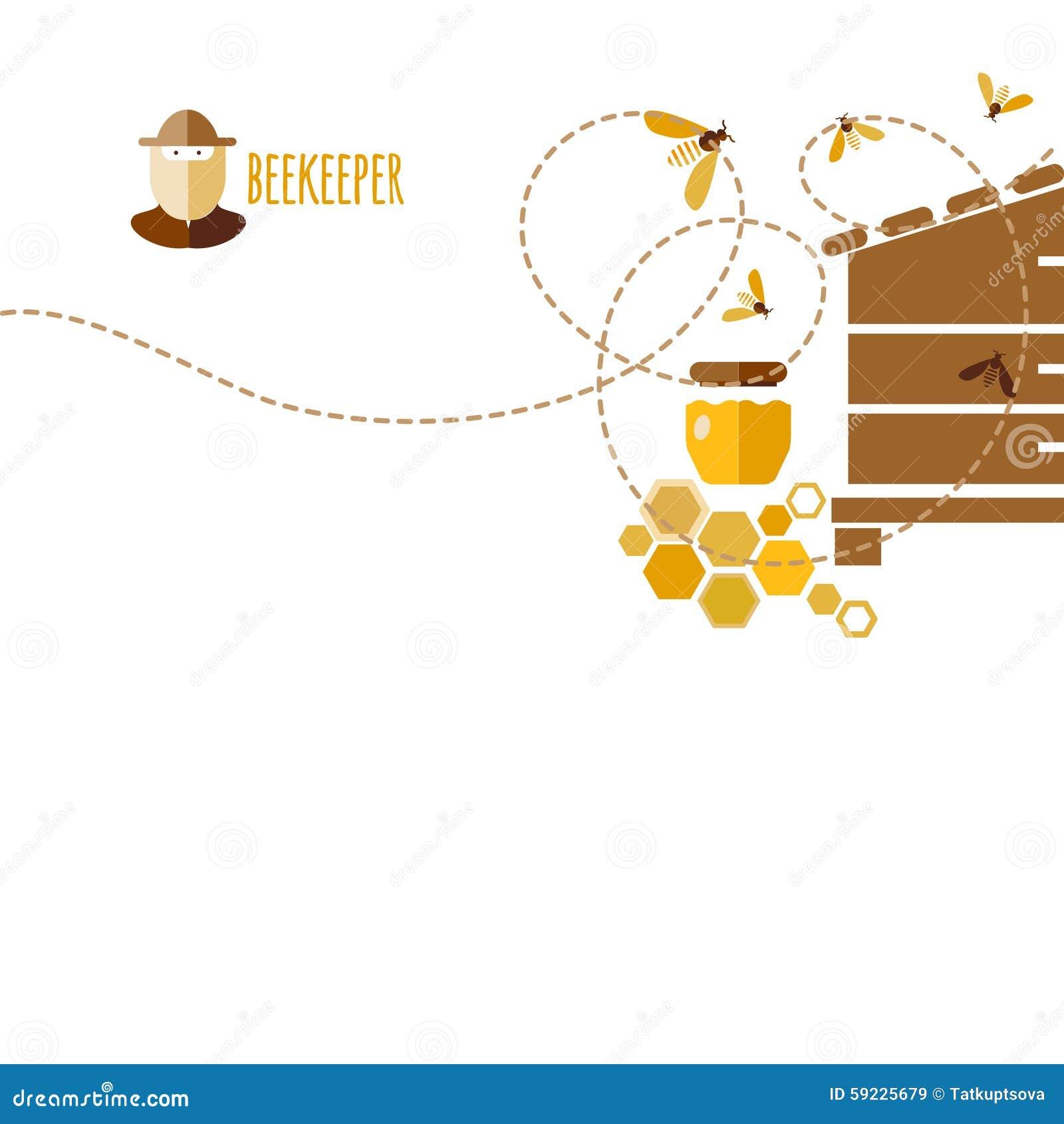 Download Honey Background ilustración del vector. Ilustración de cosecha - 59225679