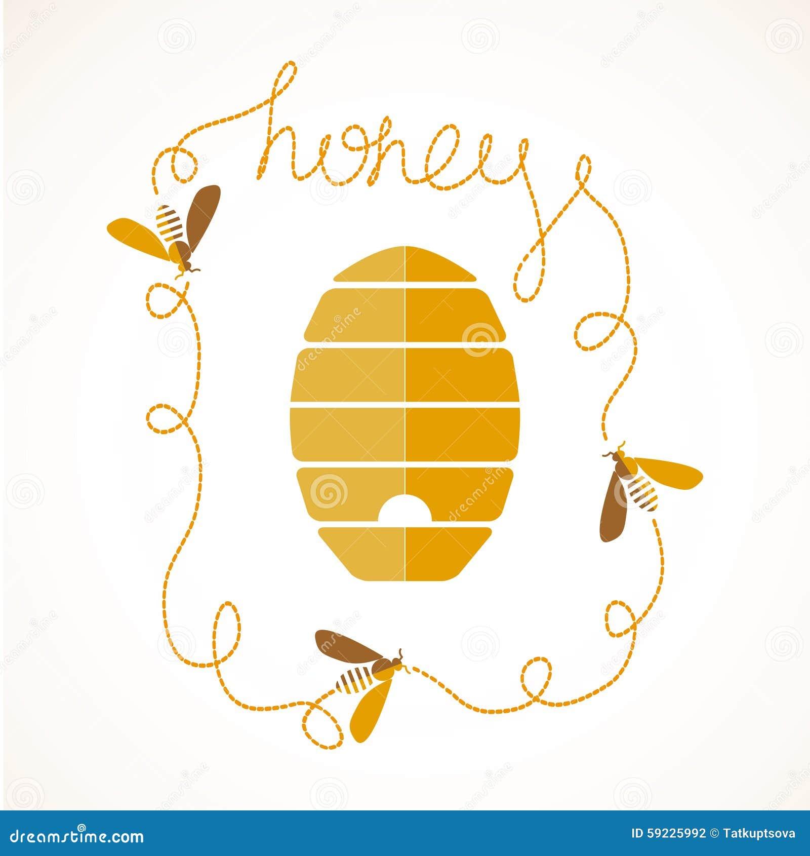 Download Honey Background ilustración del vector. Ilustración de panal - 59225992