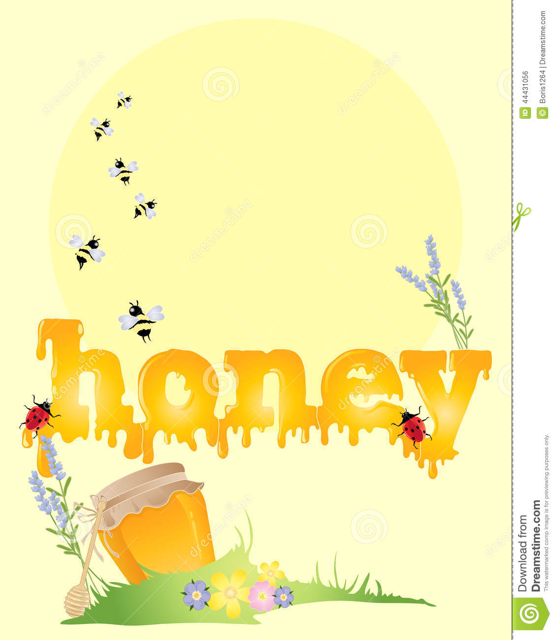 honey background stock vector  illustration of insects