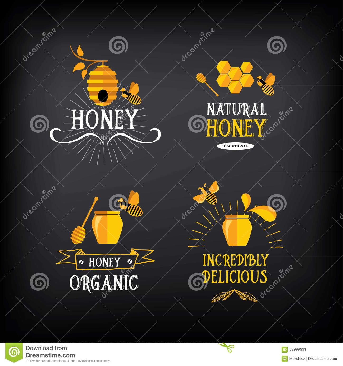 Bumble bee and honey related symbol stock vector image 60079808 honey badge and label abstract bee designctor with graphic stock image biocorpaavc