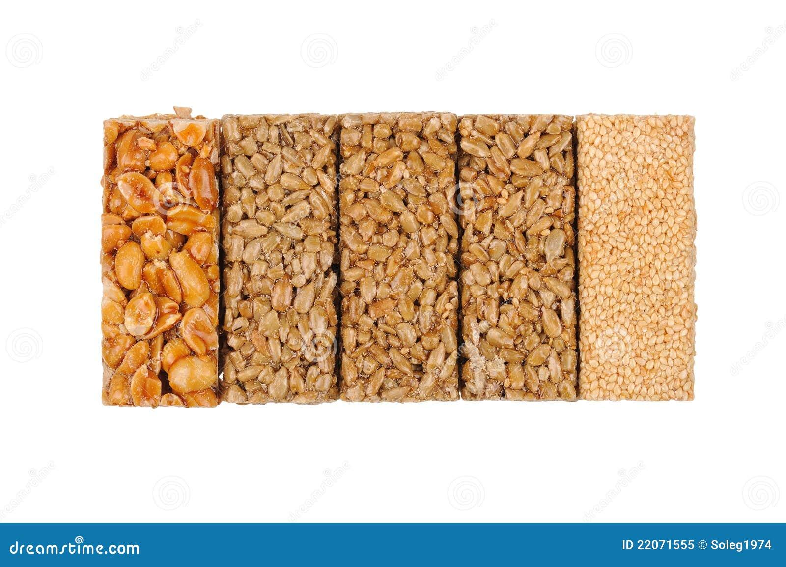 Honey bars. peanuts, sesame and sunflower seeds