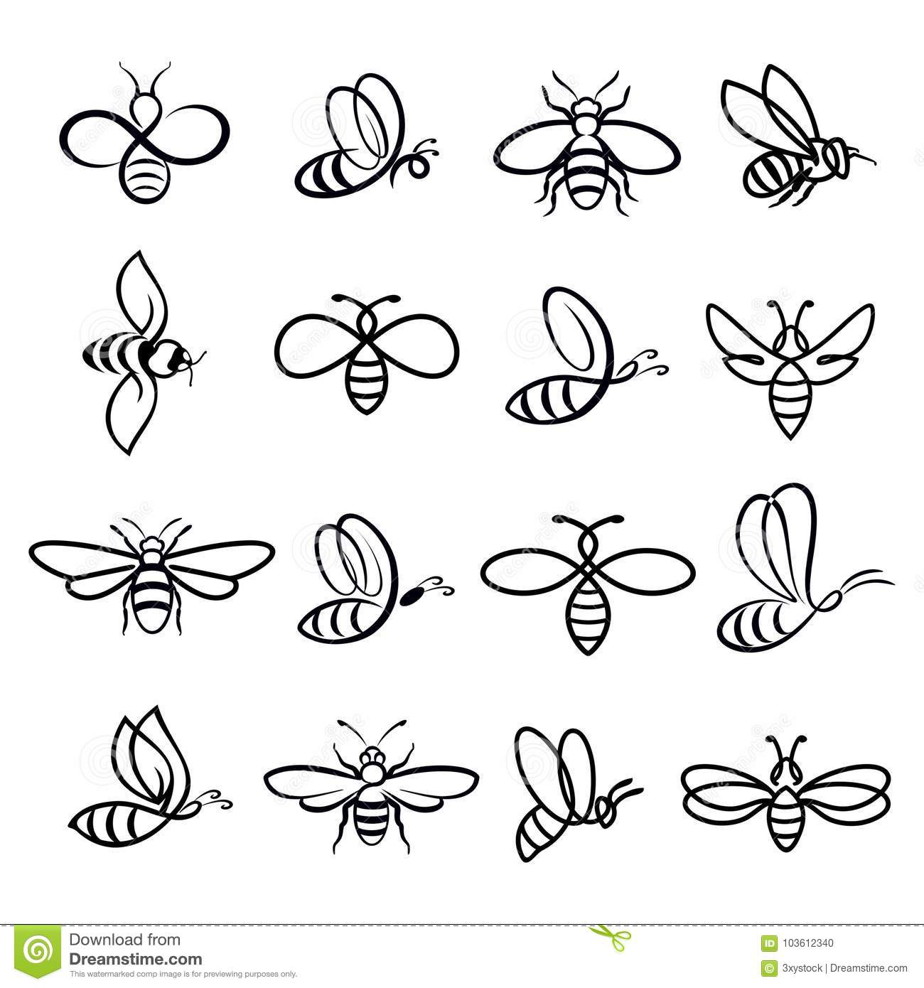 Honey Bee Icons