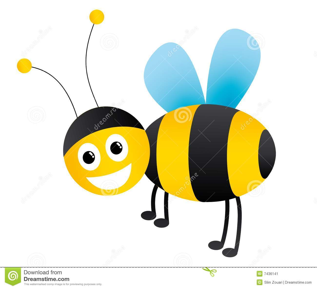 Honey bee illustration ( version conatains .eps .ai .pdf .jpg).