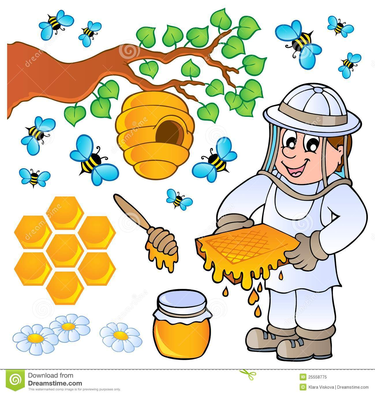 Beekeeper Clip Art Honey-bee-theme-collection- ...