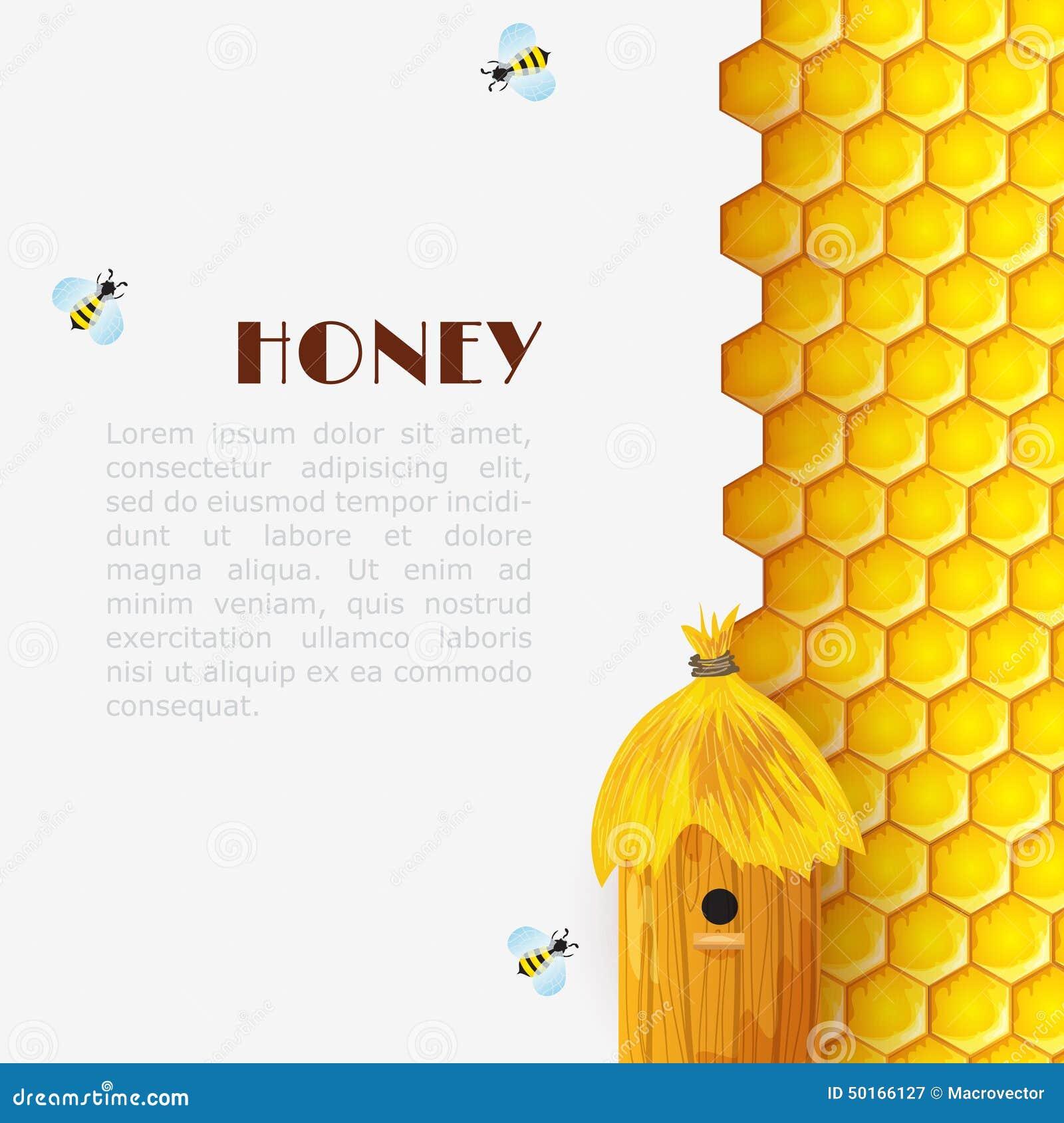 Honey Beehive Background Stock Vector Image Of Beekeeper