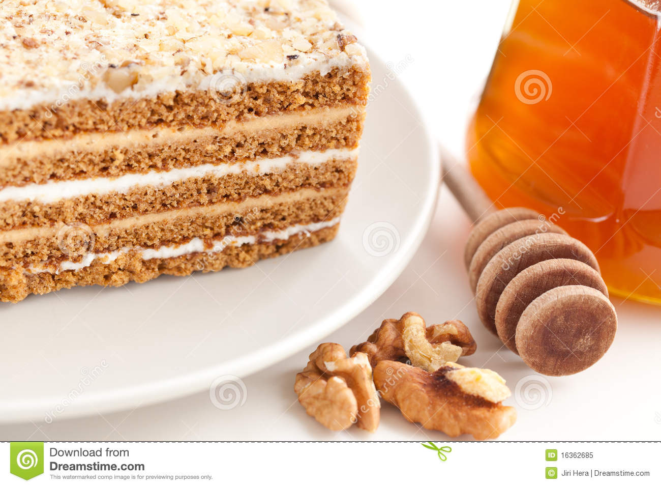 Clipart Of Honey Cake : Honey Cake Royalty Free Stock Photo - Image: 16362685
