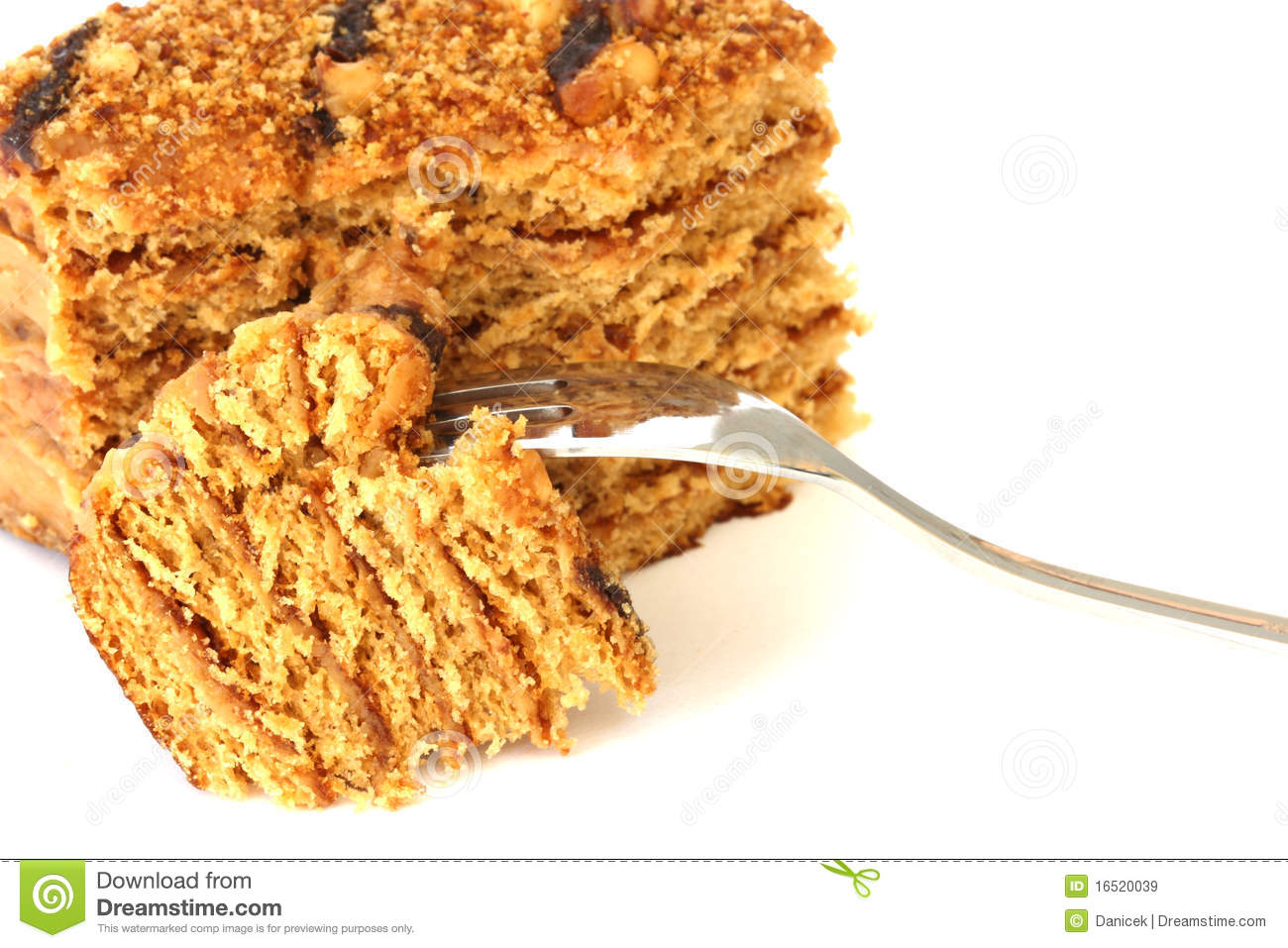 Clipart Of Honey Cake : Honey Cake Royalty Free Stock Images - Image: 16520039