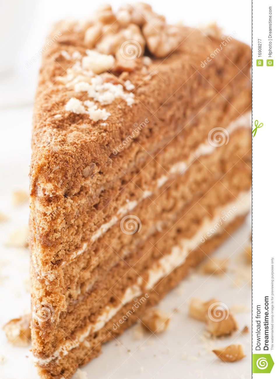Clipart Of Honey Cake : Honey Cake Royalty Free Stock Photography - Image: 16908277