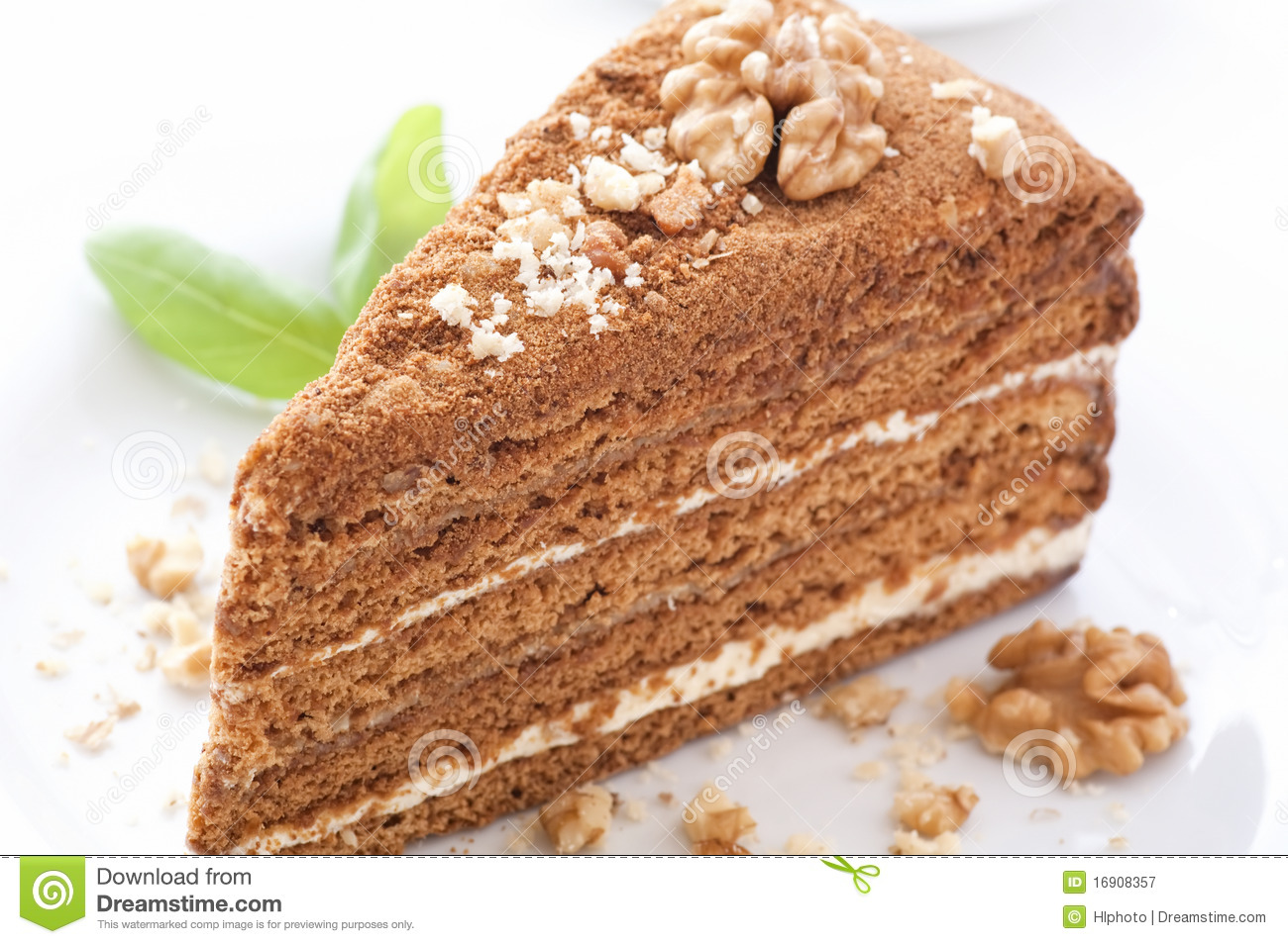 Clipart Of Honey Cake : Honey Cake Royalty Free Stock Photography - Image: 16908357