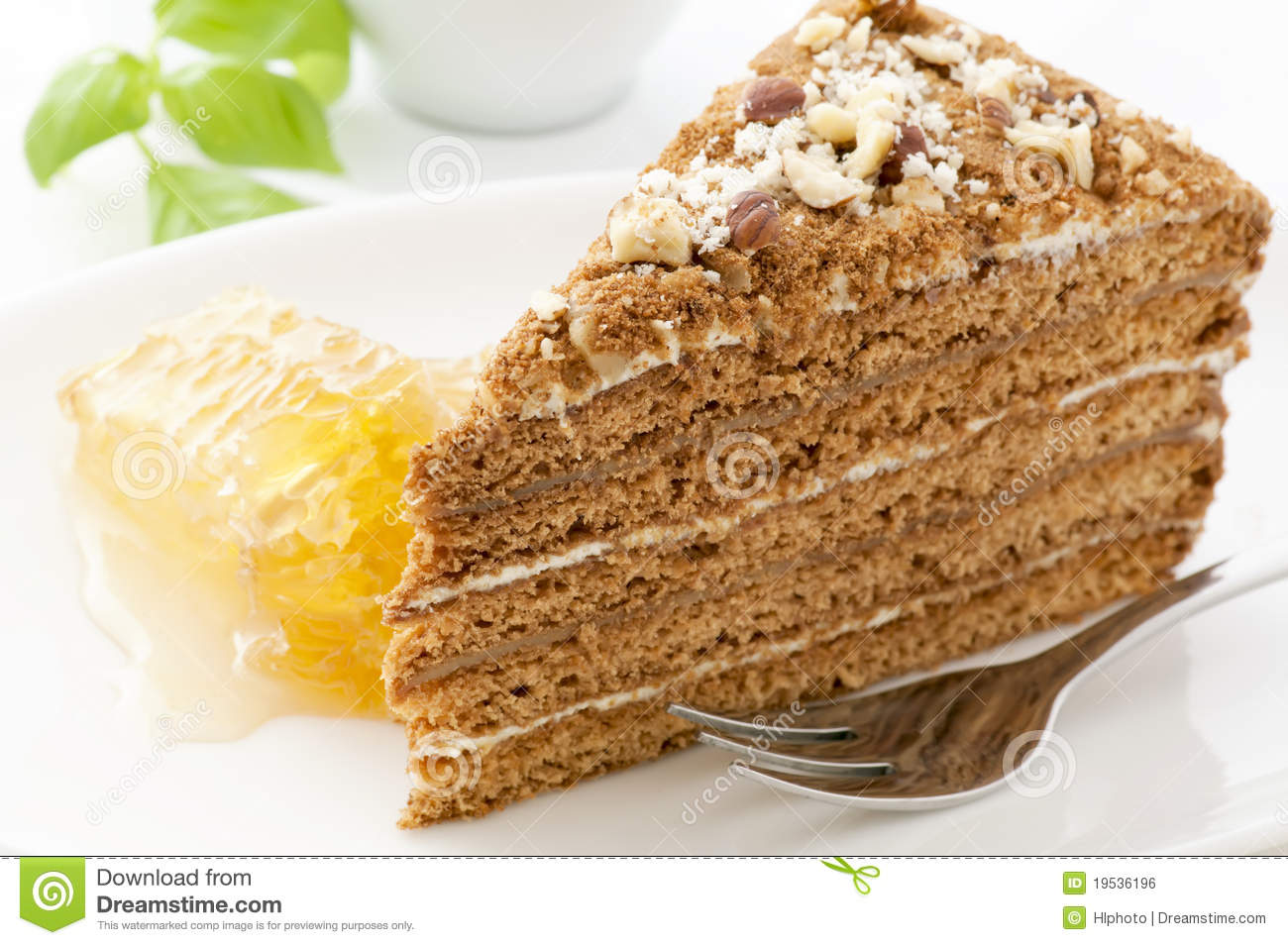 Clipart Of Honey Cake : Honey Cake Royalty Free Stock Image - Image: 19536196