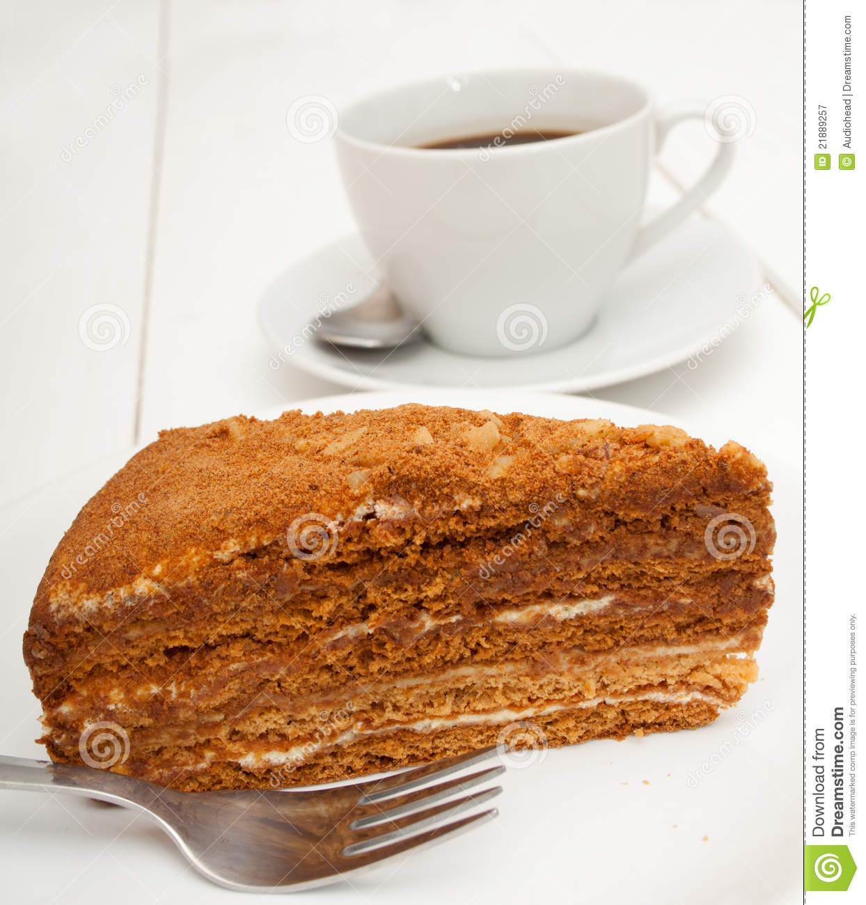 Clipart Of Honey Cake : Honey Cake Royalty Free Stock Photography - Image: 21889257