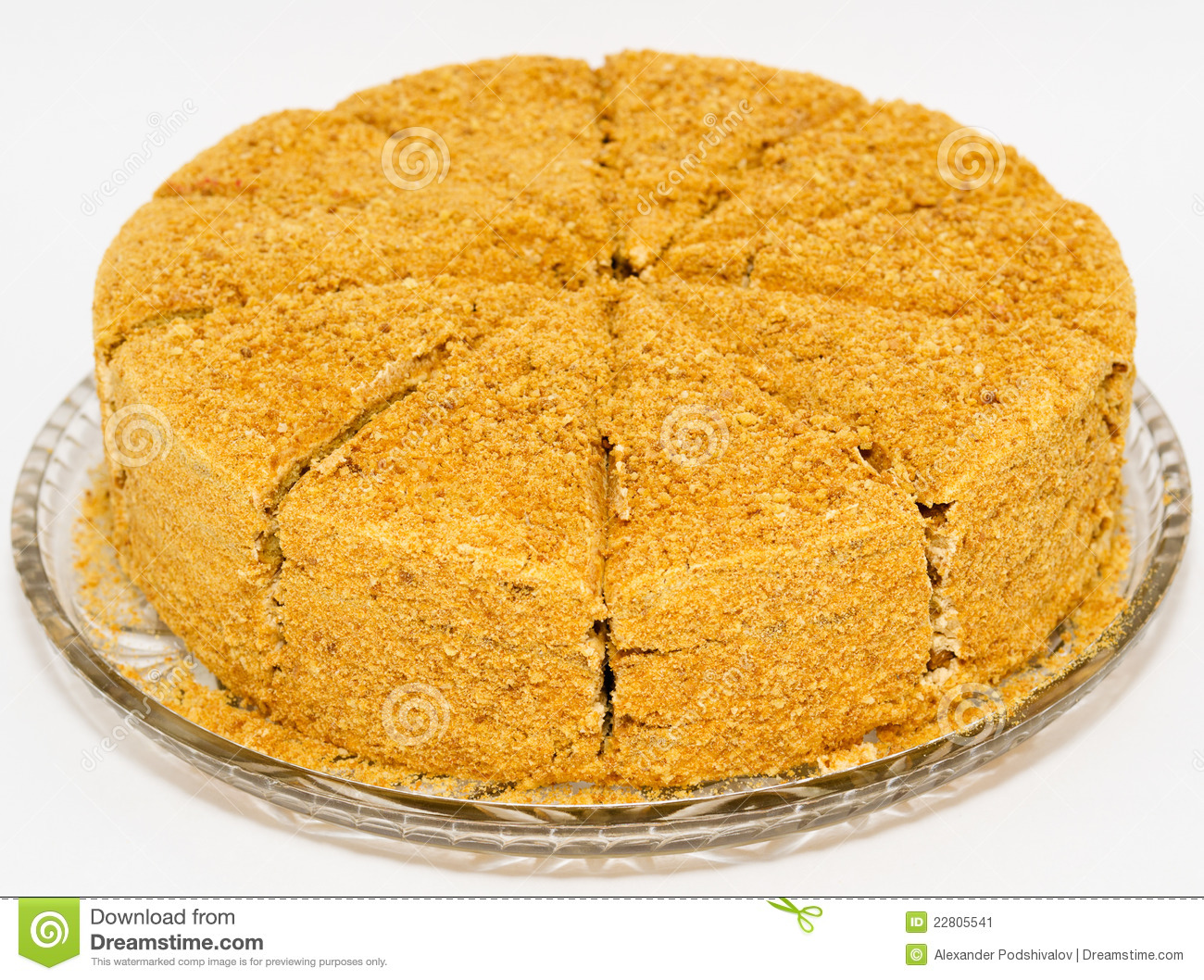 Clipart Of Honey Cake : Honey Cake Stock Image - Image: 22805541