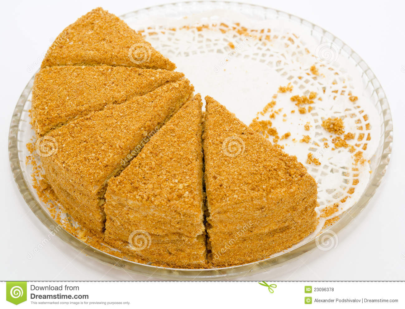 Clipart Of Honey Cake : Honey Cake Royalty Free Stock Photos - Image: 23096378