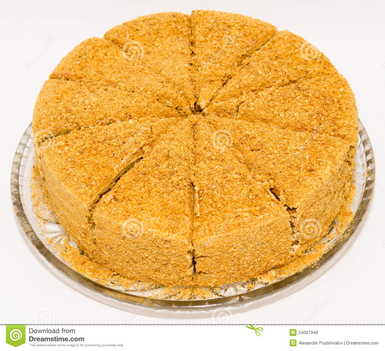 Clipart Of Honey Cake : A Honey Cake Royalty Free Stock Image - Image: 24057946