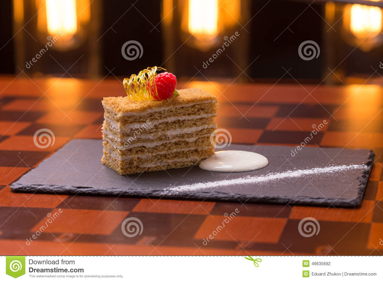 Clipart Of Honey Cake : Honey Cake Stock Photo - Image: 46635692