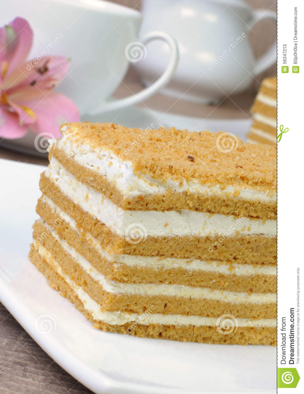 Clipart Of Honey Cake : Honey Cake Stock Photo - Image: 56347213