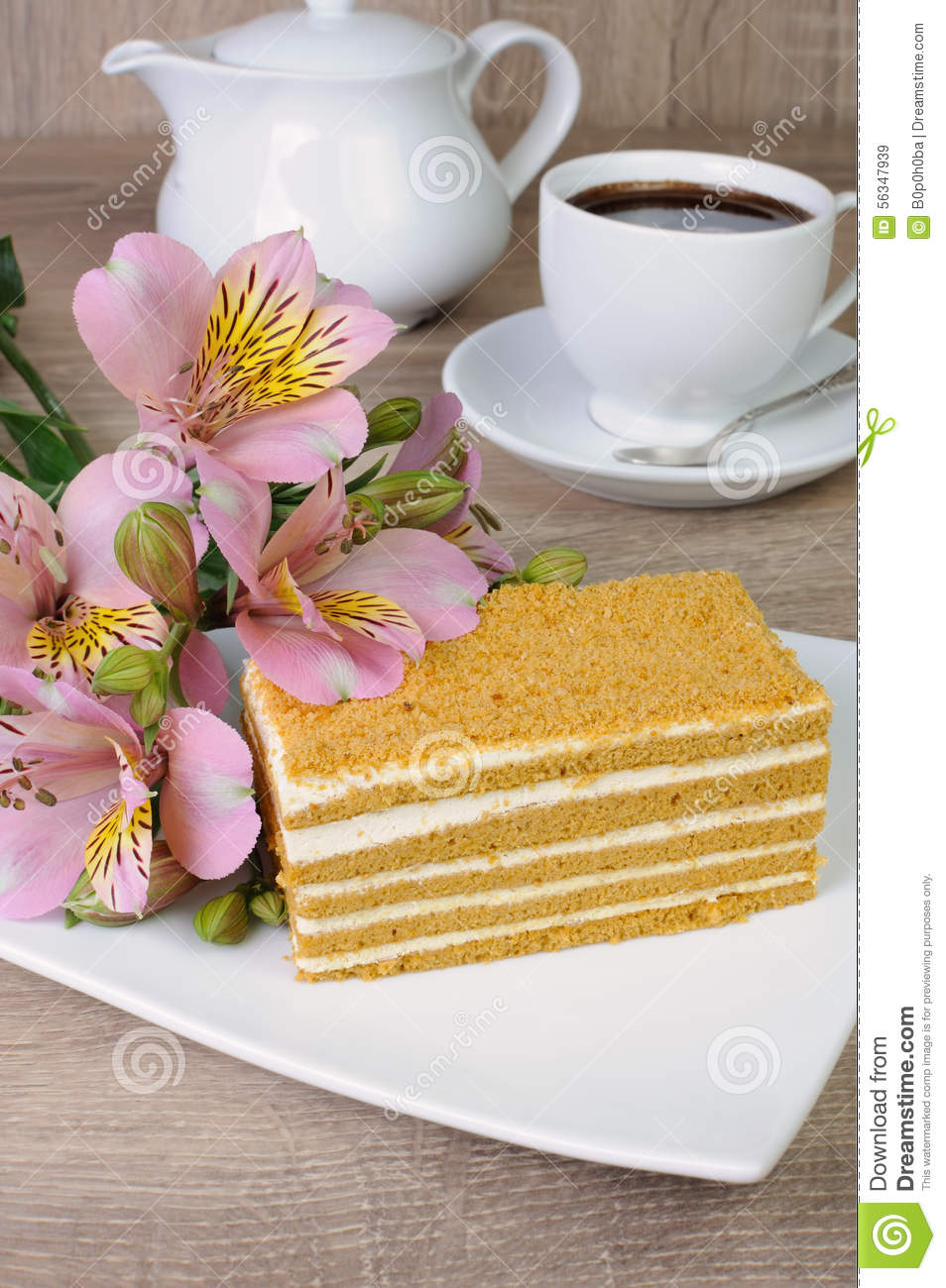 Clipart Of Honey Cake : Honey Cake Stock Photo - Image: 56347939