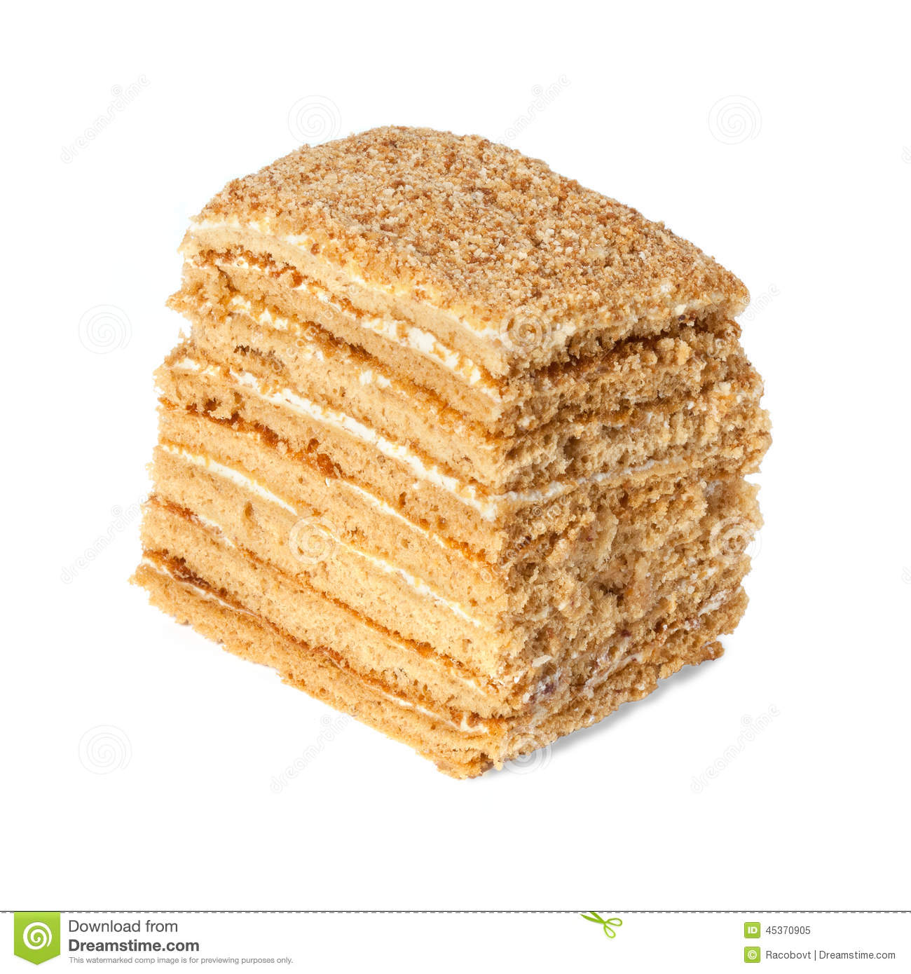 Clipart Of Honey Cake : Honey Cake Stock Photo - Image: 45370905
