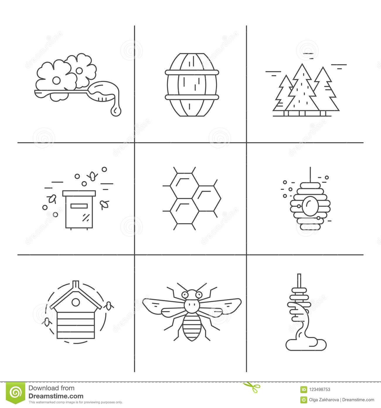 Honey Colletction Stock Vector Illustration Of Honey 123498753