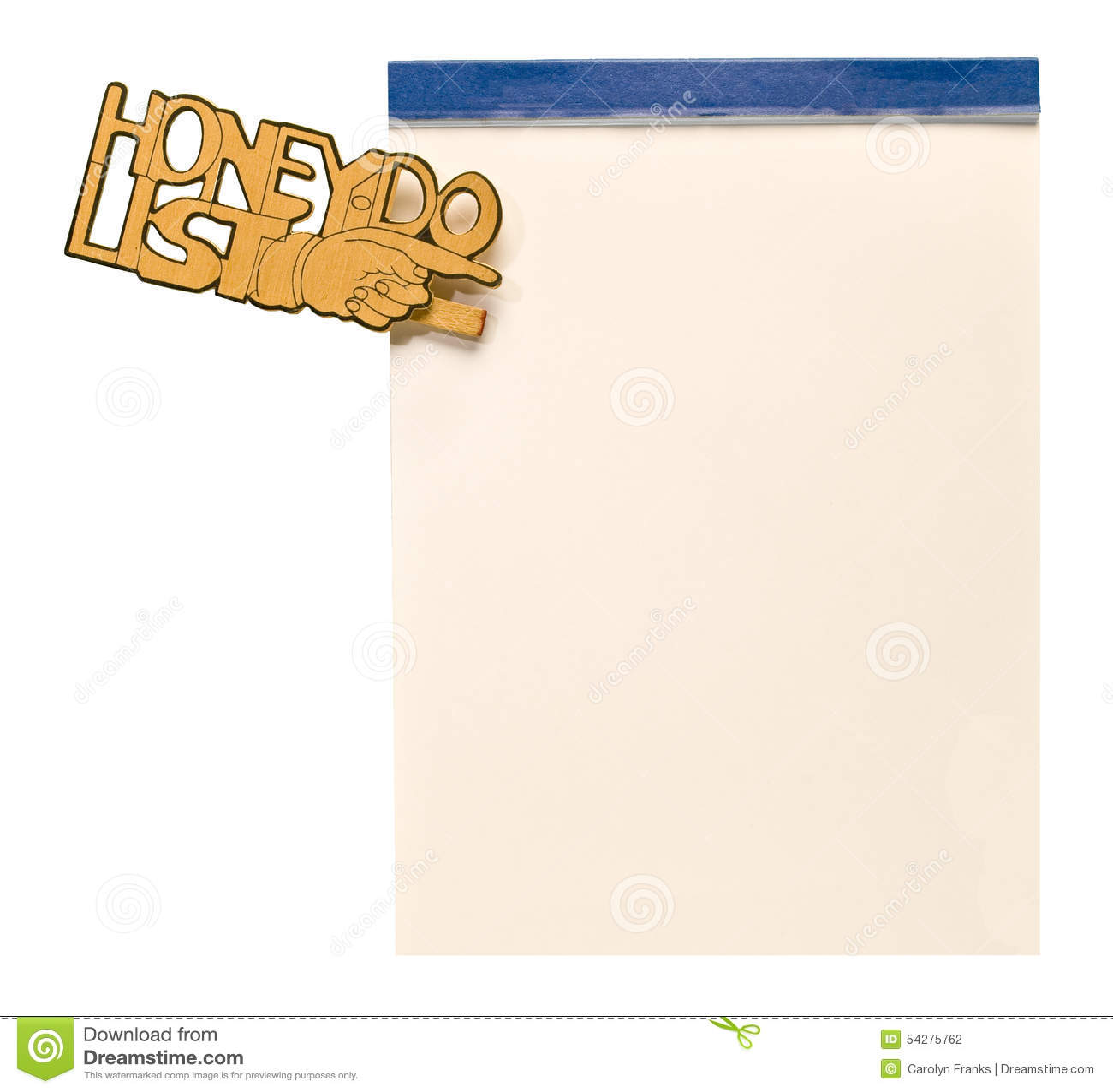 graphic regarding Honey Do List Printable called Honey Do Listing inventory photograph. Graphic of rectangle, isolated