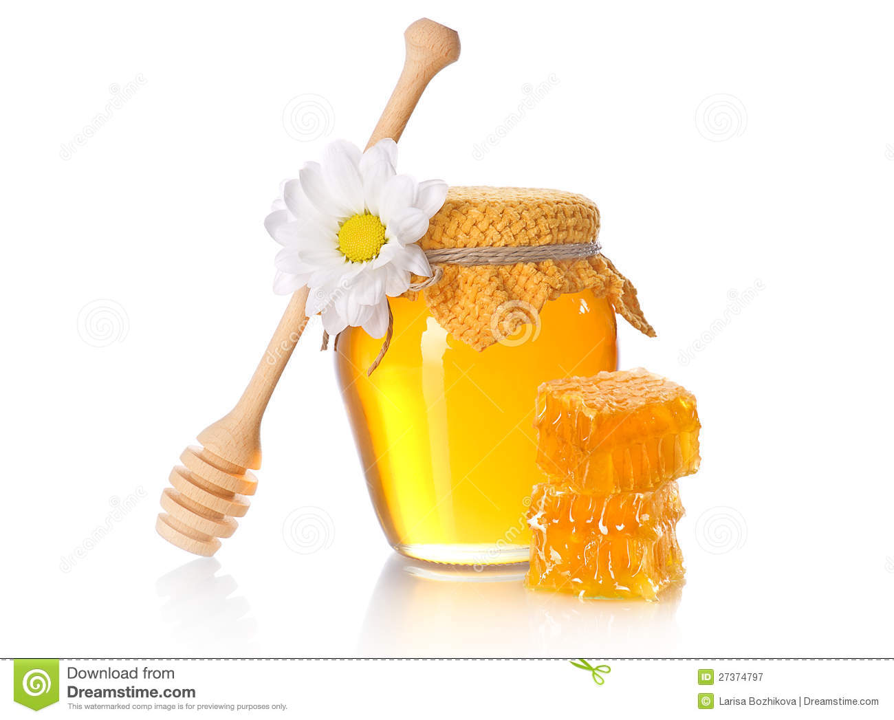 Honey jar with honey dipper