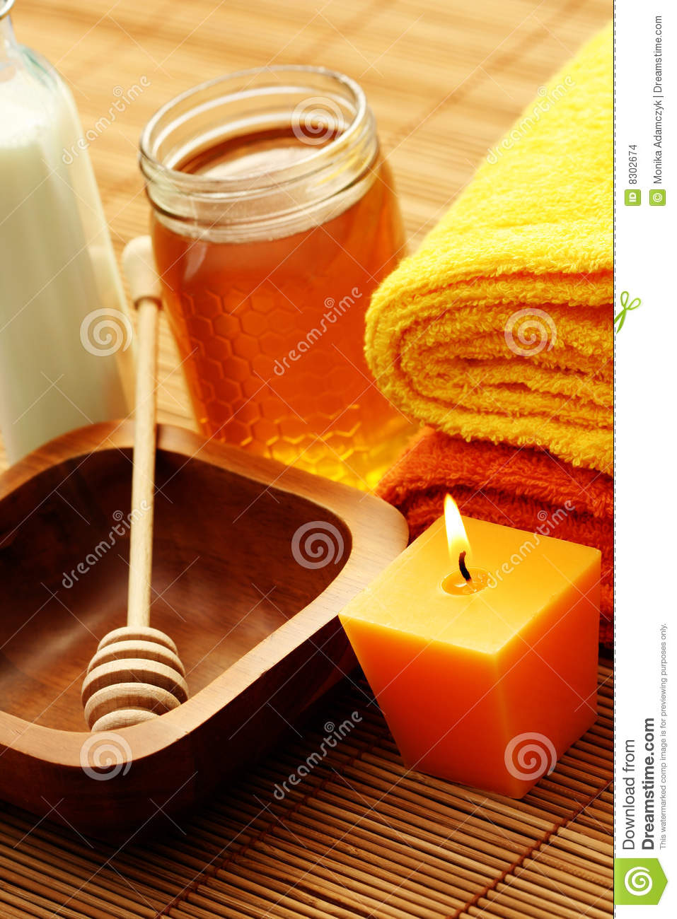 Honey and milk spa stock images image 8302674 for Honey beauty salon