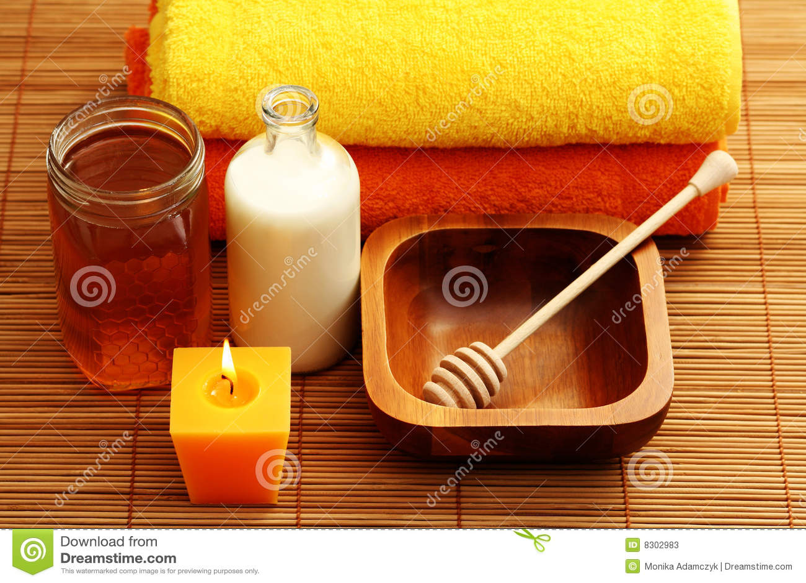 Honey milk spa
