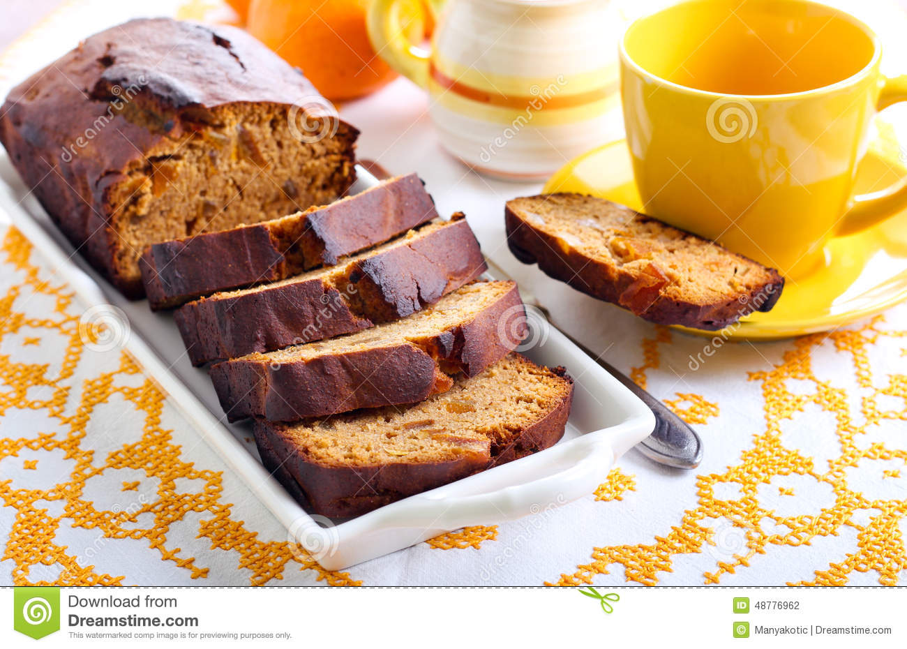 Honey Rye Loaf Cake Stock Photo - Image: 48776962