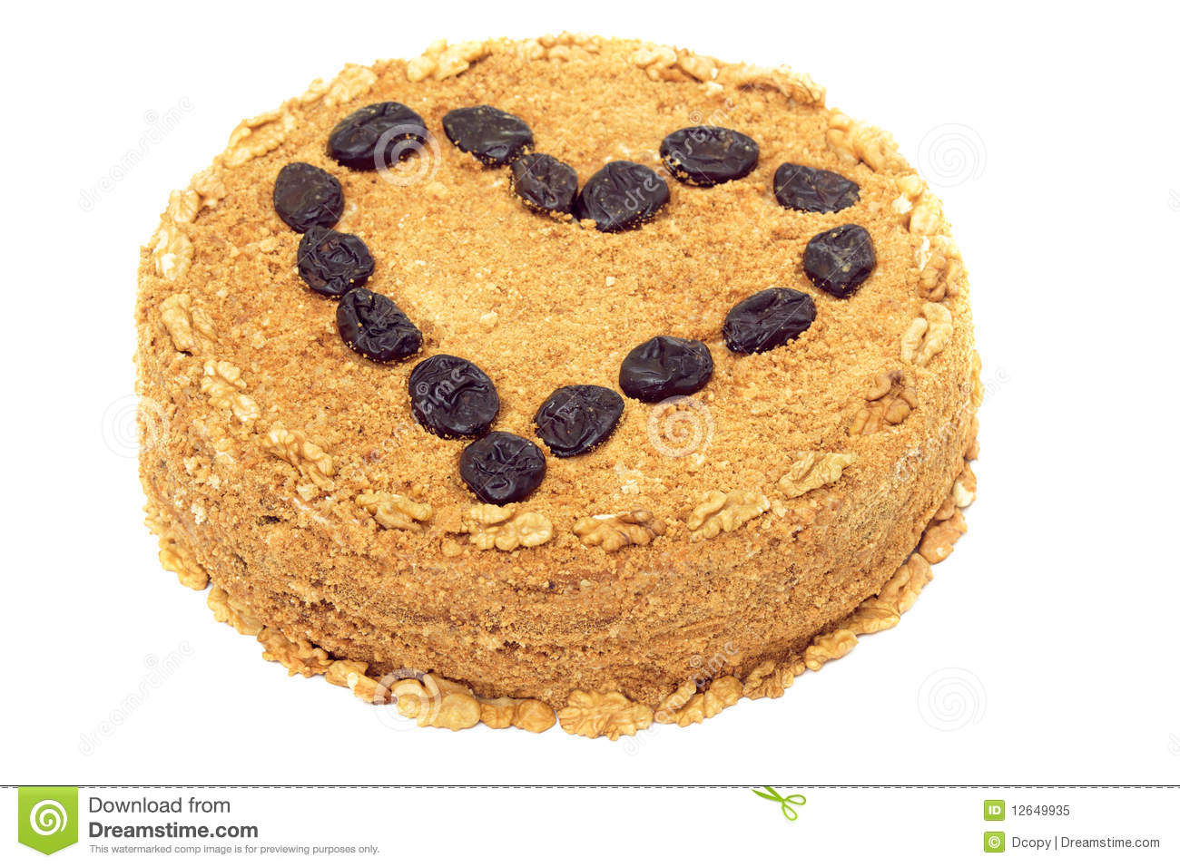 Clipart Of Honey Cake : Honey-walnut Cake With Prune Royalty Free Stock Photo ...