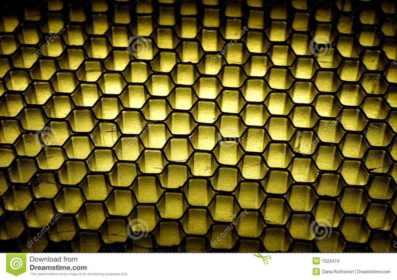 Photo of a Grid / Honeycomb Background - Light From Beneath Material.