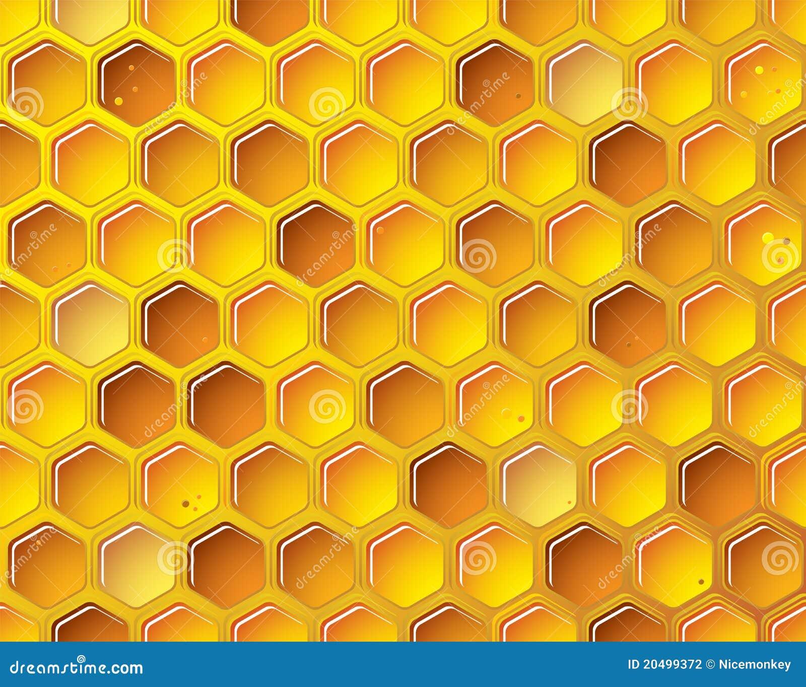Honeycomb Background Concept Stock Vector