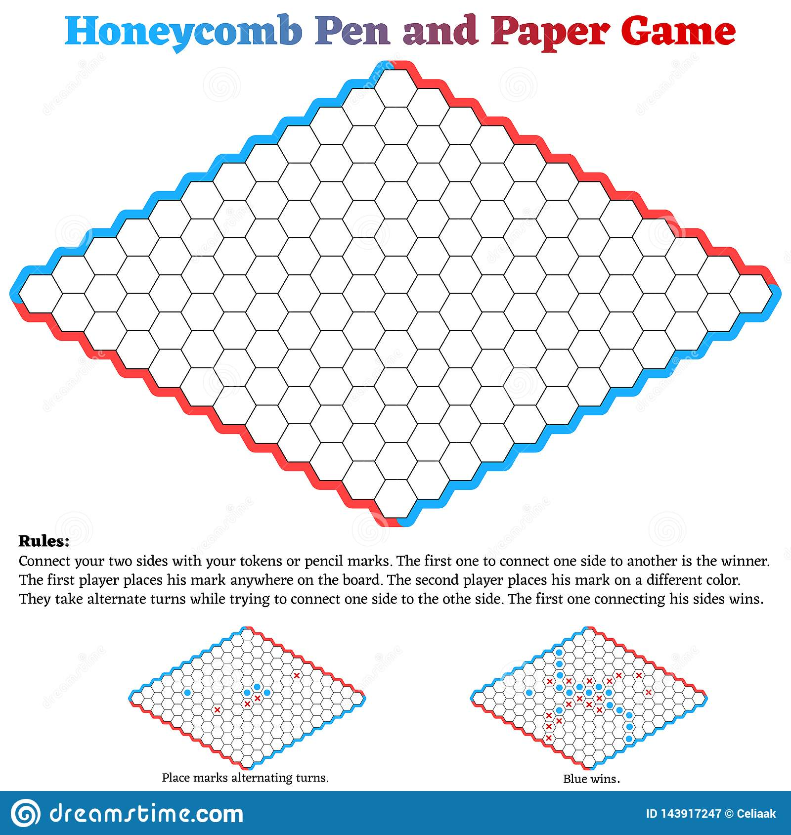 picture relating to Hex Paper Printable identified as Honeycomb Hex Pen And Paper Activity Inventory Case in point
