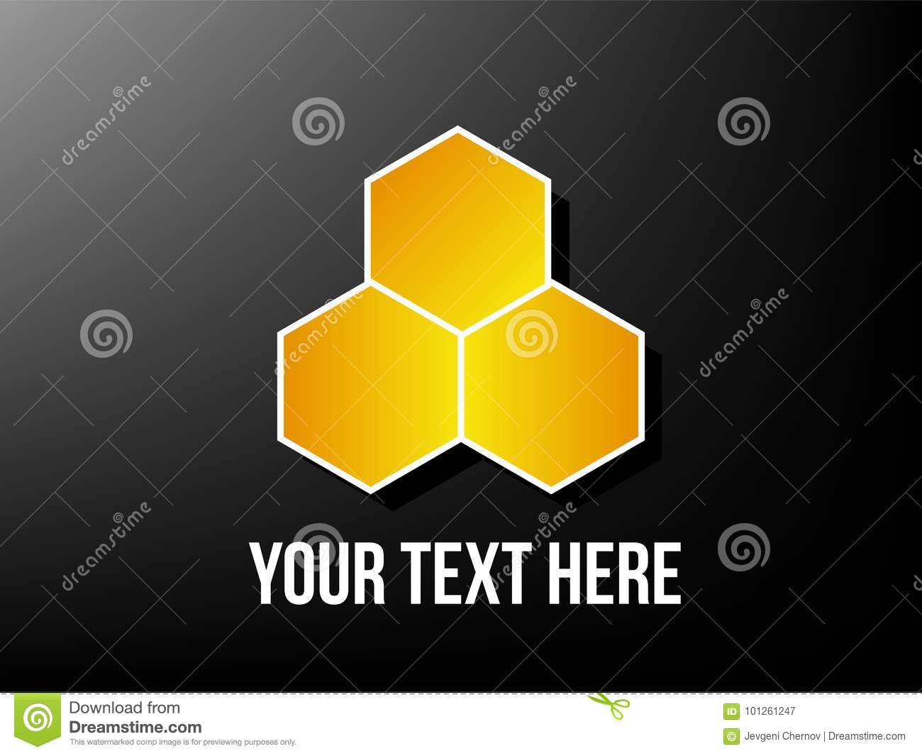 Honeycomb Logo On Black Stock Vector Illustration Of Fresh 101261247 Beehive Phone Wiring Diagram A Simple For Company