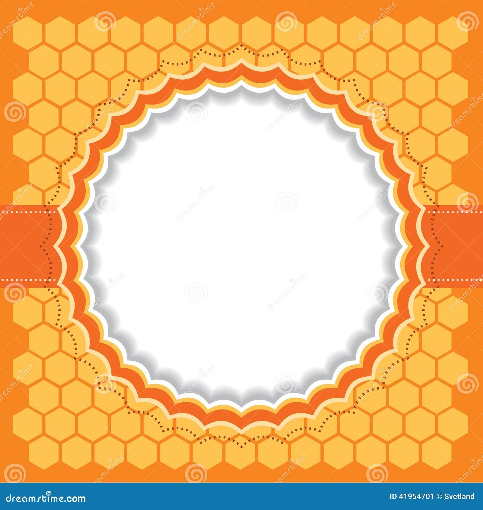 Honeycomb rama również zwrócić corel ilustracji wektora