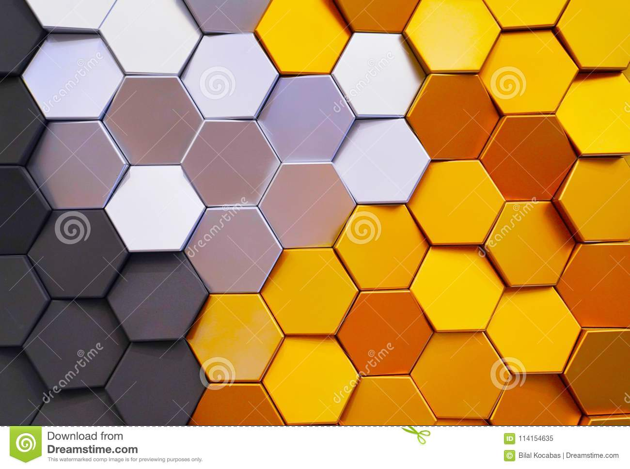 Honeycomb Shape Colorful Decorative Ceramic Tiles On Wall Stock