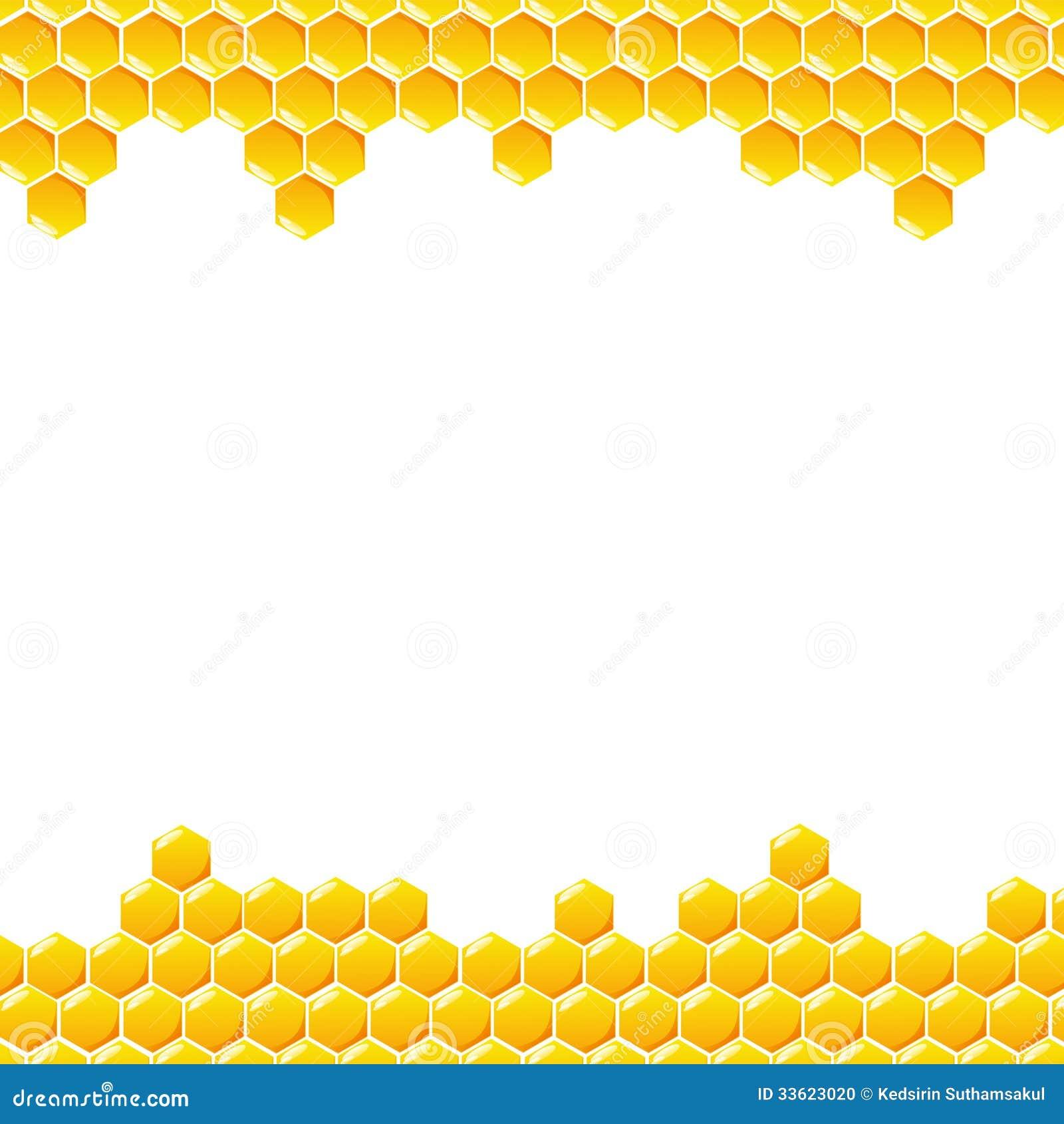 Honeycomb On White Background Stock Photo - Image: 33623020