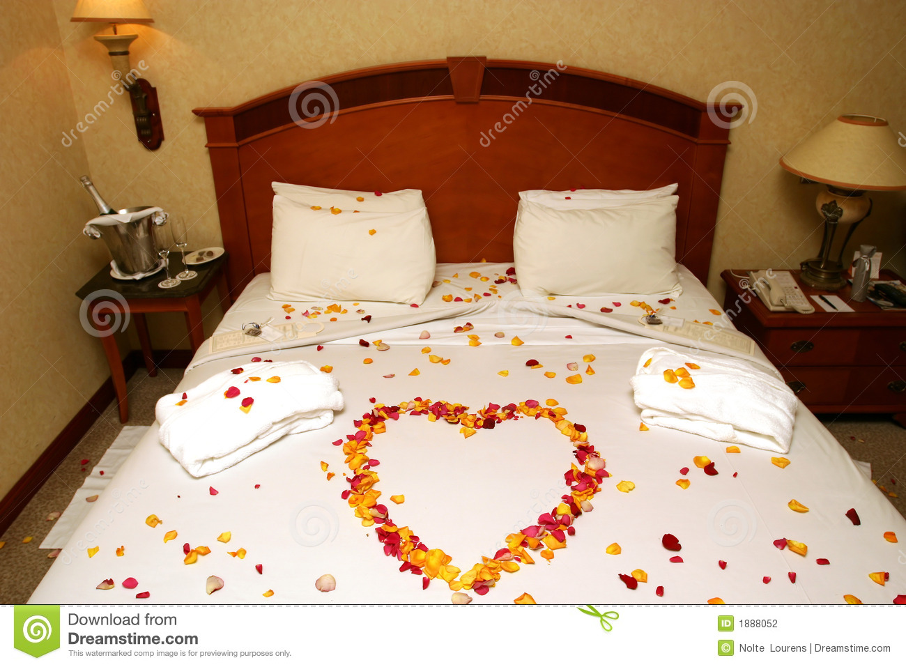 Honeymoon Bed Stock Photo Image Of Surprise Heart Wedding