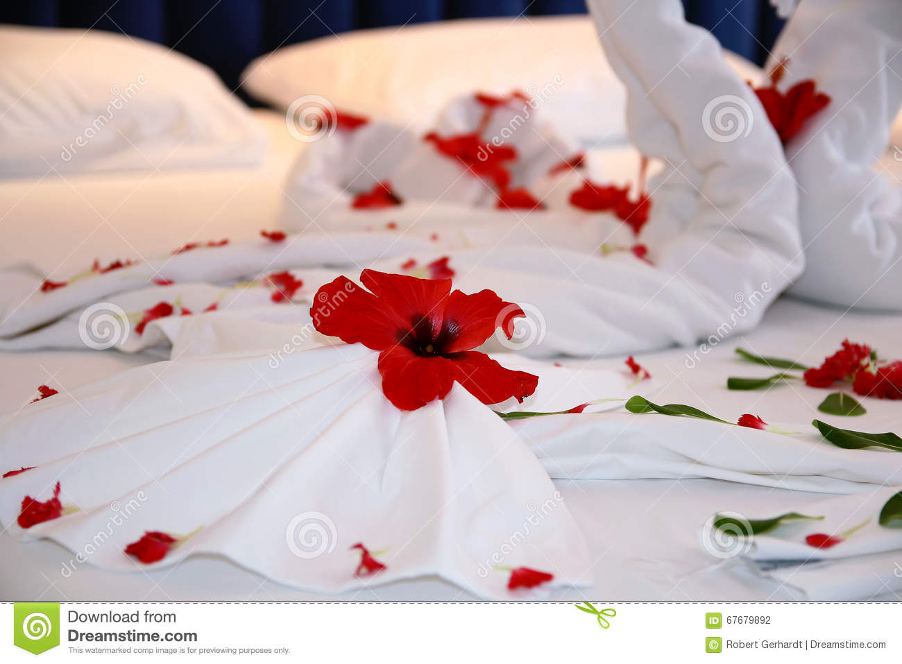 Honeymoon Bed Flower Decoration