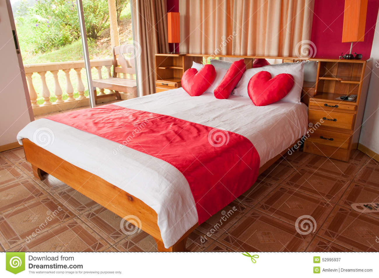 Honeymoon Bed Romantic In Suite Costa Rica Royalty Free Stock Photography