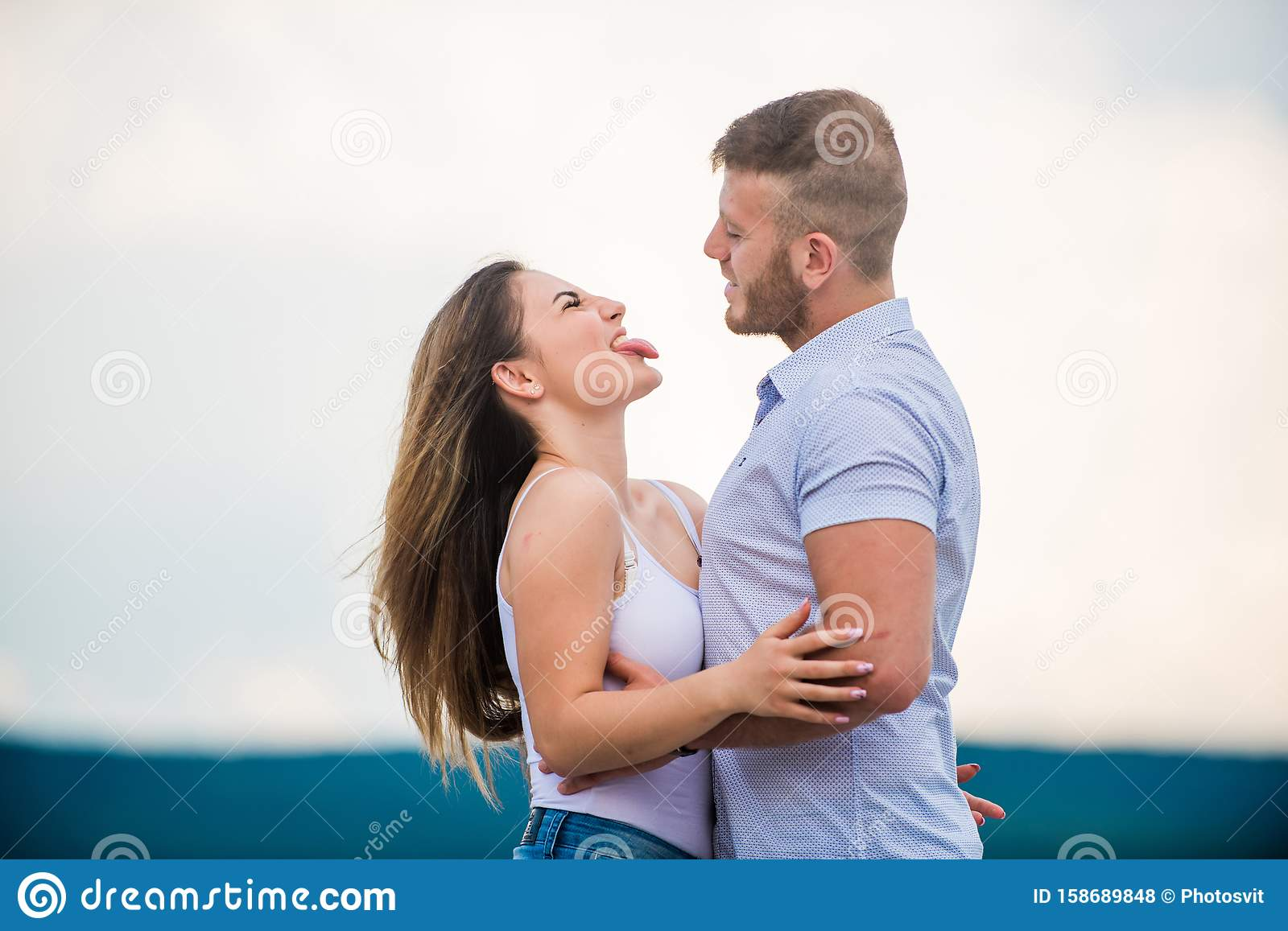 Honeymoon Concept Romantic Relations True Love Family Love Couple In Love Supporting Her Cute Relationship Man Stock Photo Image Of Date Cuddle 158689848