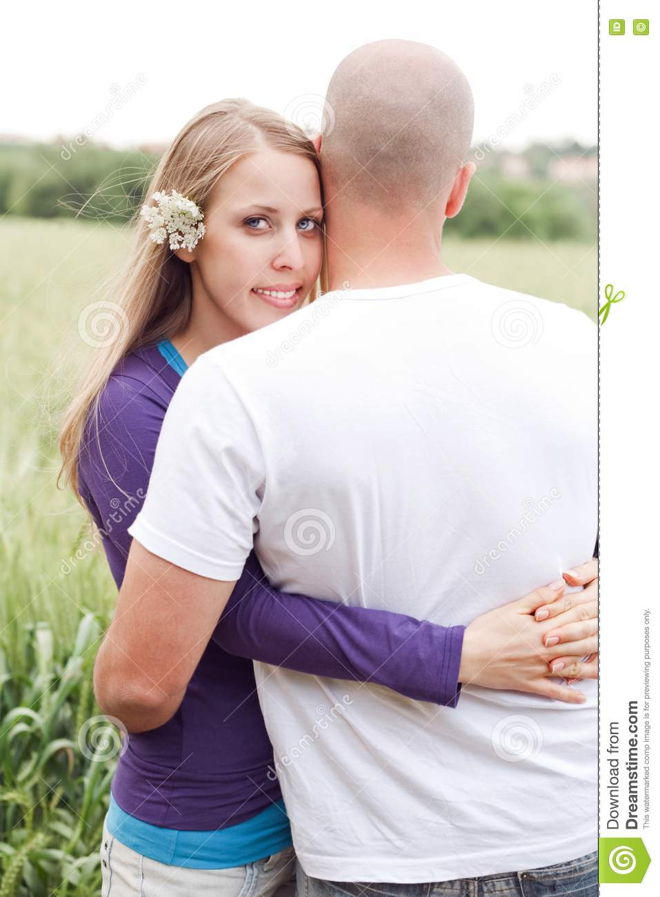 honeymoon couple hugging each other royalty free stock