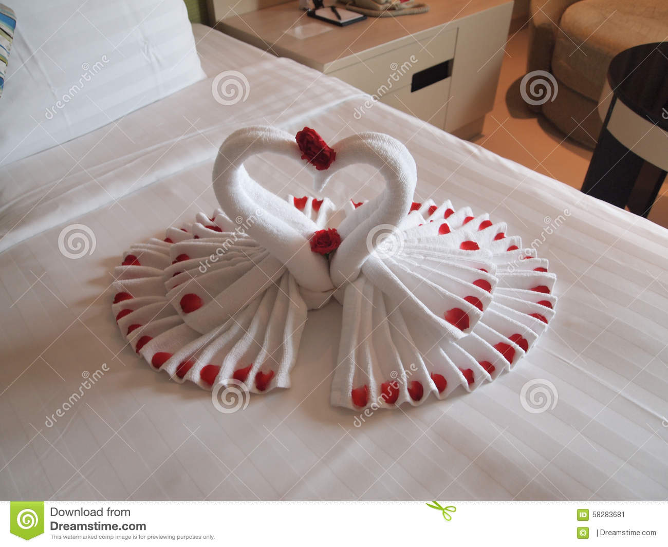 Honeymoon decoration stock photo image 58283681 for Decoration image